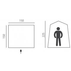 "Палатка -душевая, туалет серия ""Basic line"" Solo, синяя"