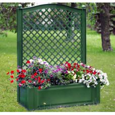 Шпалера 100 (см) с большим ящиком для растений. Зеленая