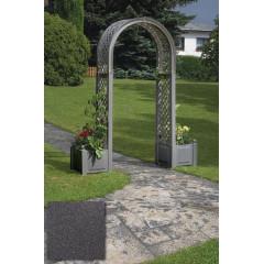 Садовая арка с ящиком для растений. Антрацит