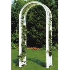 Садовая арка с штырями для установки. Белая