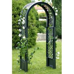 Садовая арка с штырями для установки. Зеленая