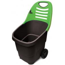 Садовая тележка Helex 65 л (зелено-черная)