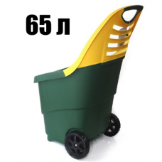 Садовая тележка Helex 65 л (зелено-желтая)