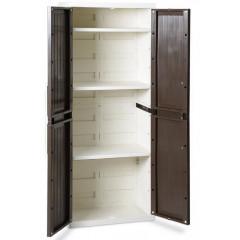 Уличный шкаф TOOMAX WOOD LINE S 256 (3 полки, 2х дверный, узкий, антрацит)