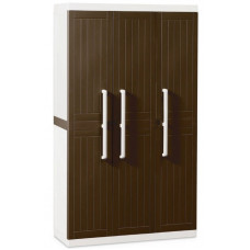 Уличный шкаф TOOMAX WOOD LINE S 257 (3х дверный, узкий, коричневый)
