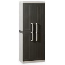 Уличный шкаф TOOMAX WOOD LINE S 255B (4 полки, 2-х дверный, узкий, антрацит)