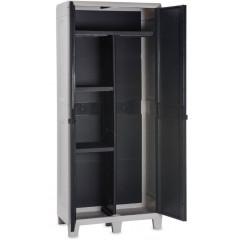 Уличный шкаф TOOMAX WOODY'S XL (3 полки,076, 2х дверный, глубокий, антрацит)