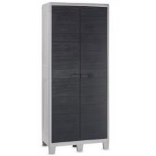 Уличный шкаф TOOMAX WOODY'S XL (4 полки, 077, 2-х дверный, глубокий, антрацит)