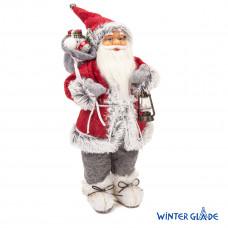 Фигурка Дед Мороз 46 см с фонарем (красный/серый) (6)