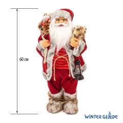 Фигурка Дед Мороз 60 см  с фонарем (красный) (2)