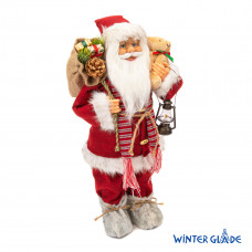 Фигурка Дед Мороз 60 см (красный вельвет) (2)