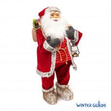 Фигурка Дед Мороз 80 см с фонарем (красный)