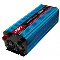Автомобильный инвертор LEDO 3000W 24V - 220V (Чистый синус)
