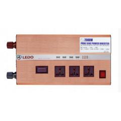 Инвертор автомобильный LEDO 24V в 220V 2000W (чистый синус)