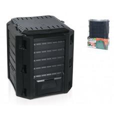 Компостер Prosperplast Compogreen IKST380C 380 л. Черный