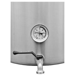 Сусловарочный котел 21,2 л. Пивоварня.ру с фальшдном, краном и термометром