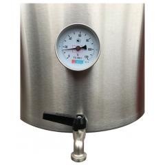 Сусловарочный котел 21,2 л Пивоварня.ру с краном и термометром