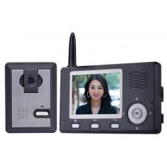Комплект беспроводного цветного видеодомофона с функцией записи